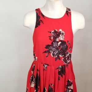 Free People Dresses - Red Floral Free People Sun Dress